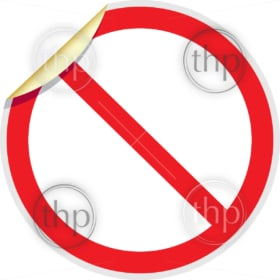 Banned sign in vector depicting banned activities