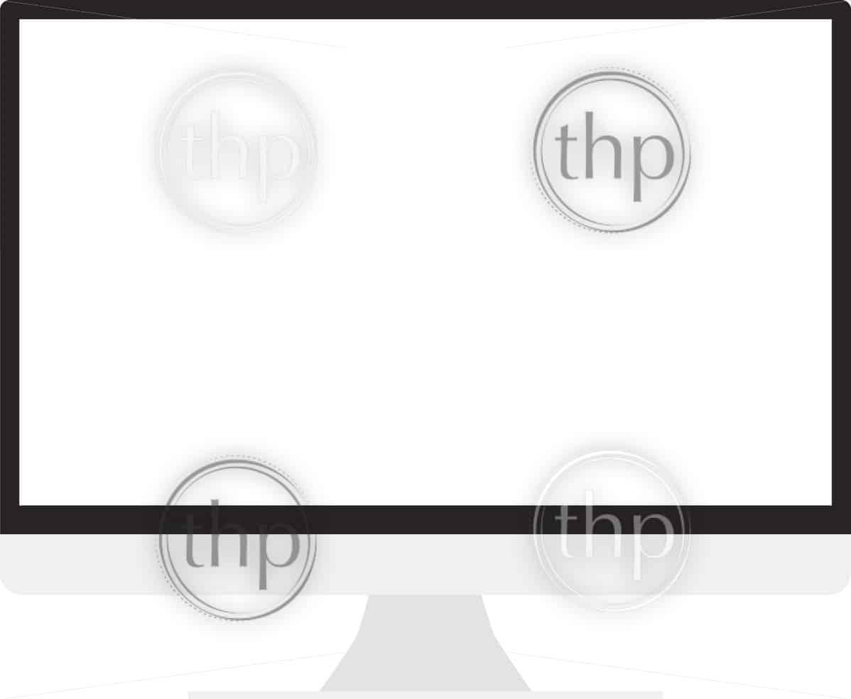 Desktop computer icon in flat design vector