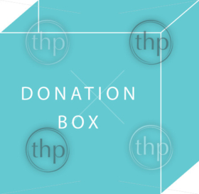 Donate concept of a donation box in simple flat vector style