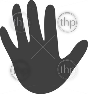 Simple hand icon in flat style vector