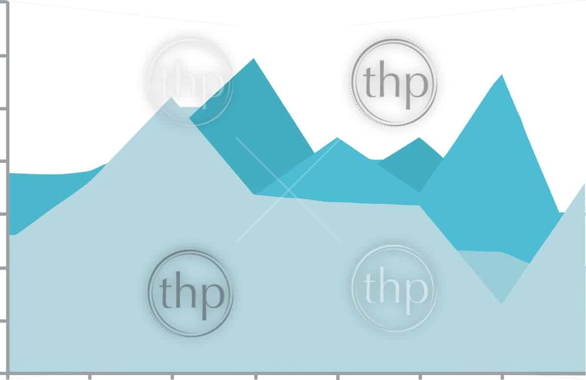 Simple line graph vector with various data shown