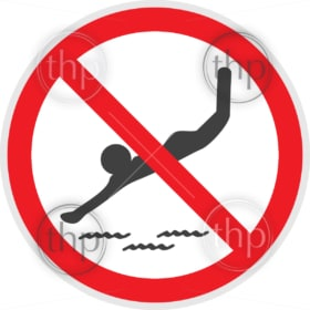 No diving sign in vector depicting banned activities