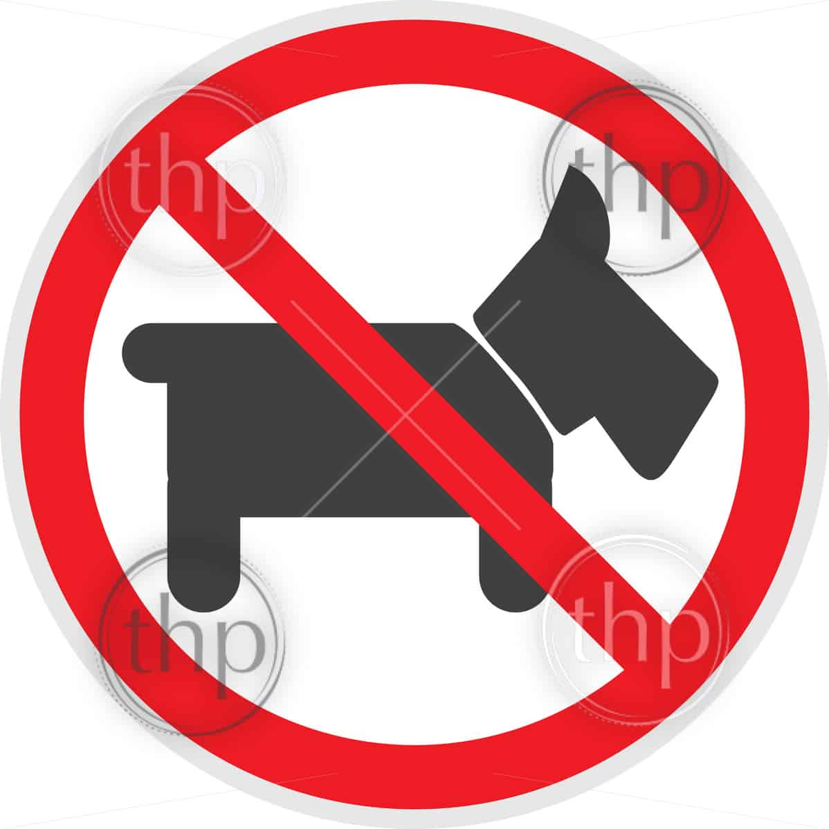 No dogs or animals sign vector depicting banned activities