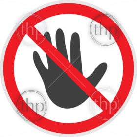 No entry sign in vector depicting banned activities