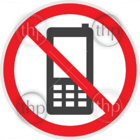No phones sign in vector depicting banned activities