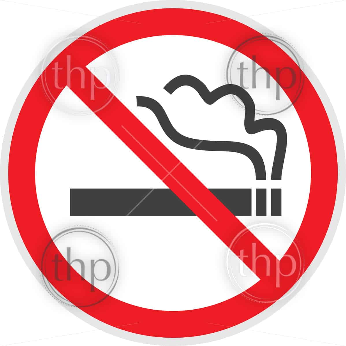 No smoking sign in vector depicting banned activities