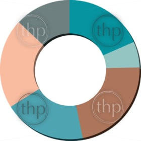 Modern flat design vector pie chart in various colors