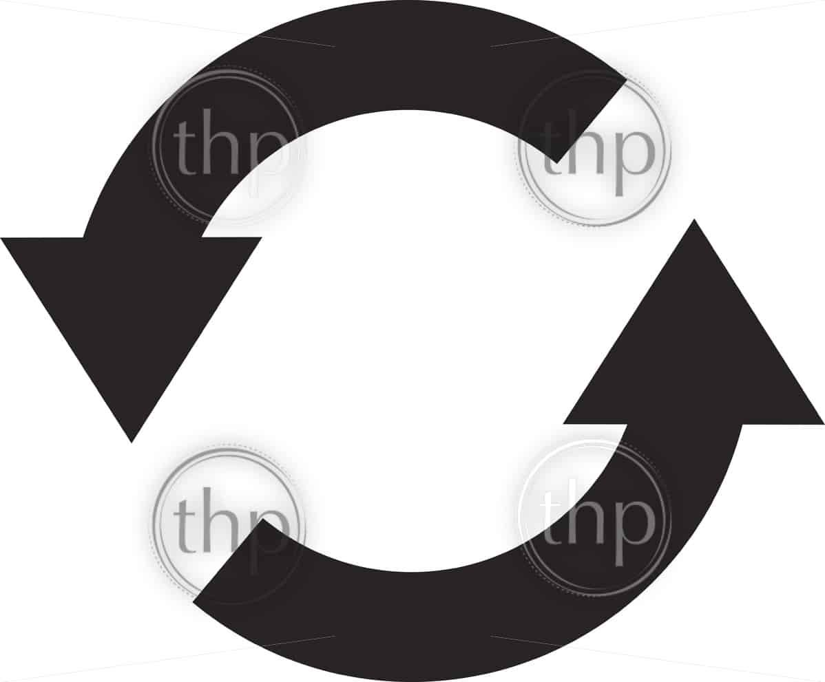 Simple Flat Design Recycle Symbol Vector In Photo Microstock Man