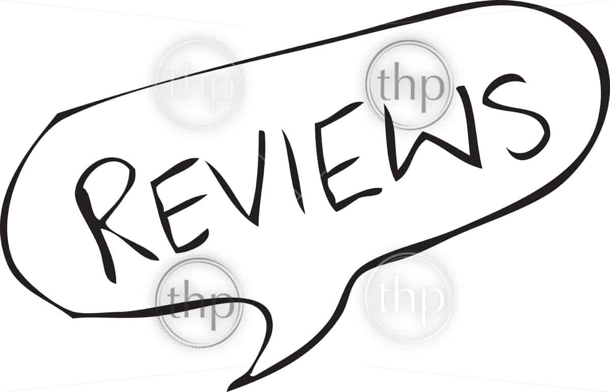 Reviews written in speech bubble in a rough hand drawn sketch style vector