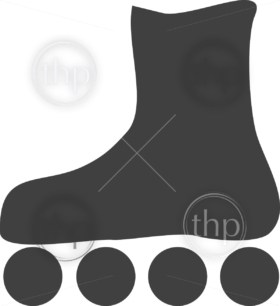 Simple rollerblades or rollerskates icon vector
