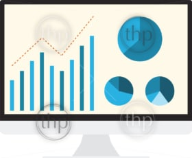 SEO analytics flat graphic design for search engine optimisation concept in vector