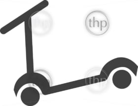Simple scooter icon in vector