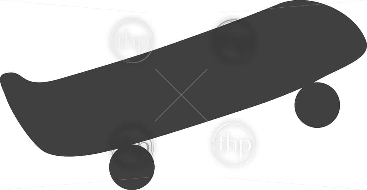 Simple skateboard icon vector