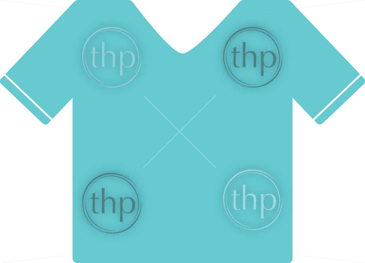 T shirt clothing in simple flat vector style