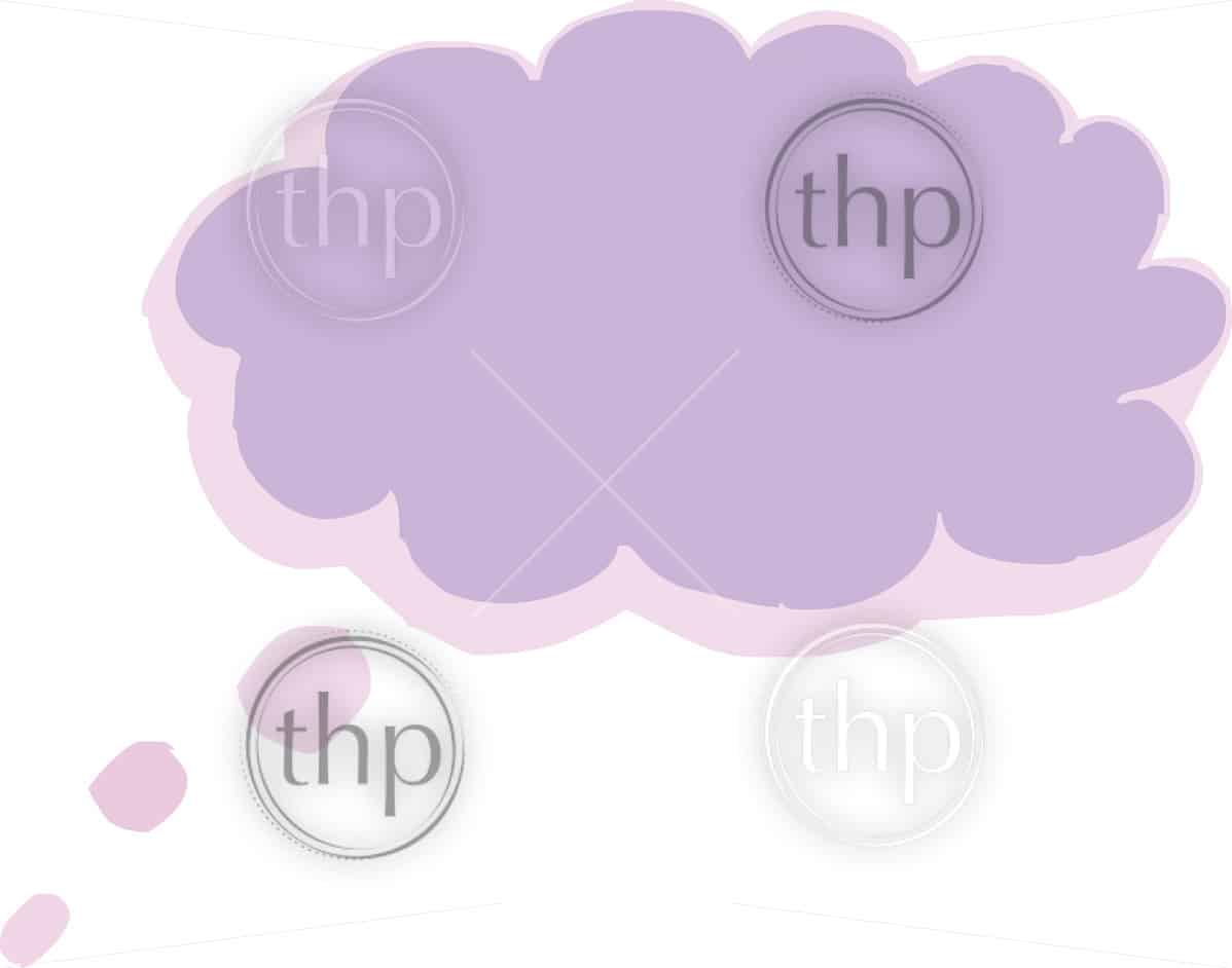 Thought balloon or bubble in sketched vector style