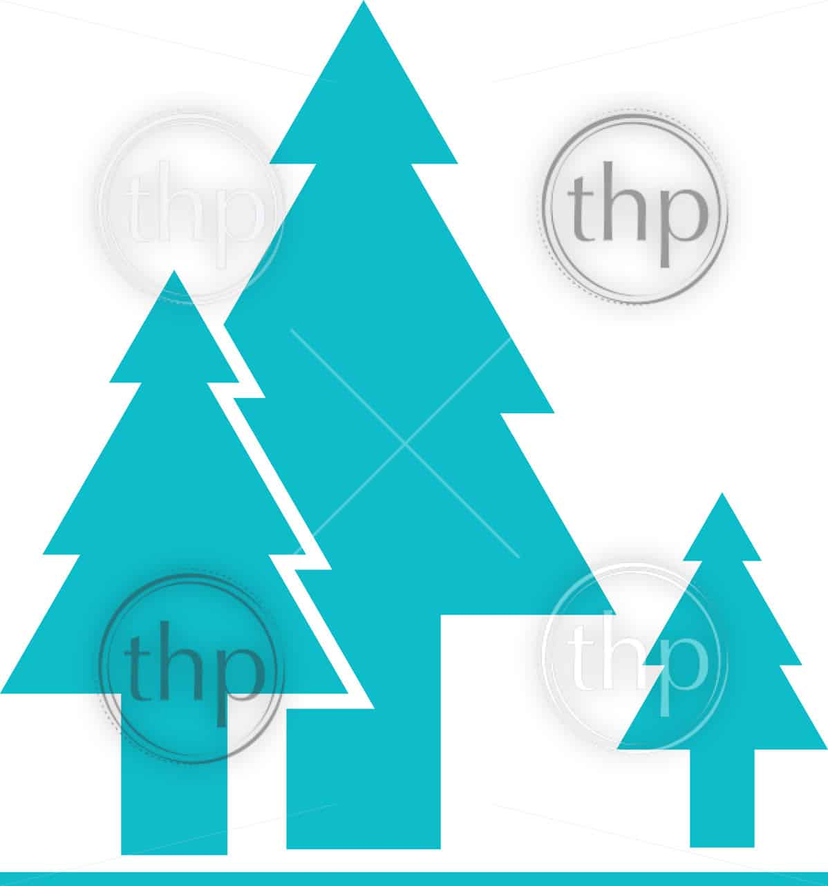 Tree or forest icon in simple flat vector design