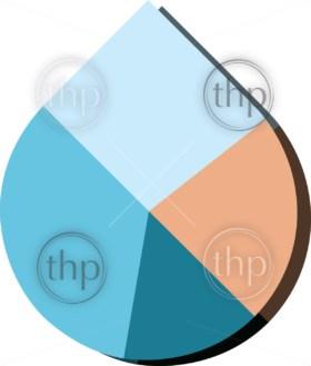 Modern flat design vector water drop pie chart in various colors