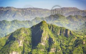 The Indian Nose mountain peak hiking trail on Lake Atitlan, Guatemala