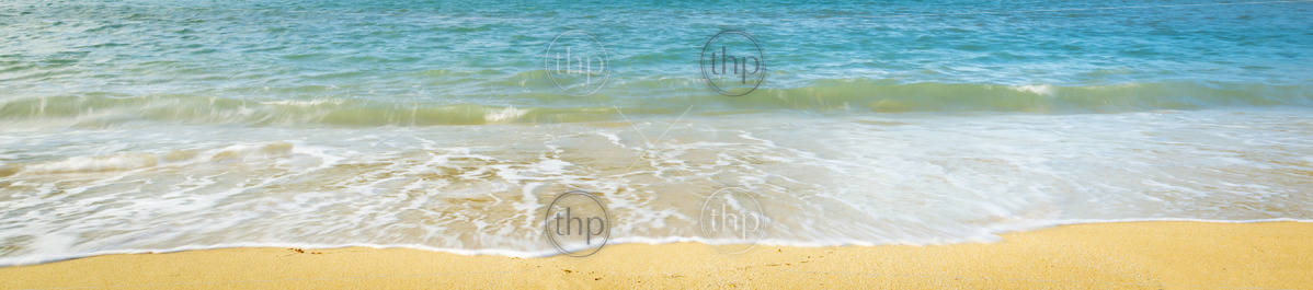 Summer sunlight on beach coastline background