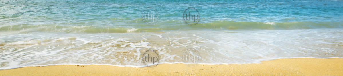 Summer sunlight on beach coastline background