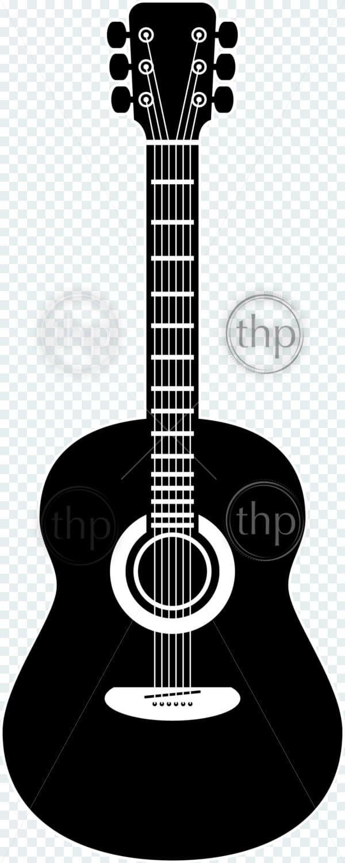 acoustic guitar vector illustration in black and white vector thpstock. Black Bedroom Furniture Sets. Home Design Ideas