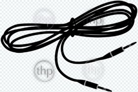 Generic patch cord for connecting guitar to AMP in vector