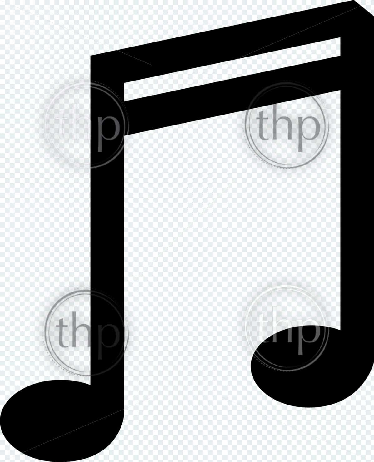 Music double bar note symbol vector illustration in black and white