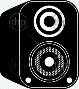 Speaker icon vector illustration in black and white