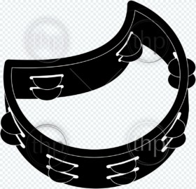 Tambourine icon vector illustration in black and white