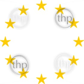 Circle of gold stars as in the European Union or EU flag