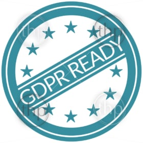 General Data Protection Regulation or GDPR concept with European Union or EU stars
