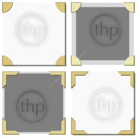 Old photo frame corners vector in various styles