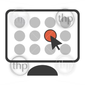 Choice concept illustrated in vector with simple computer click selection