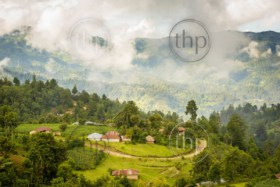 Landscape of rural village in the highlands of Guatemala