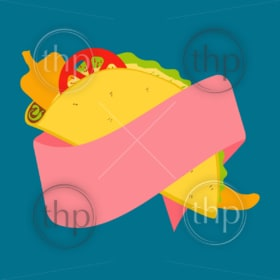 Vibrant vector design of Mexican tacos