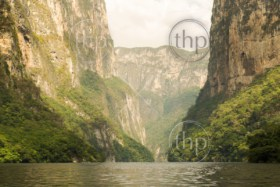 Sumidero Canyon Chiapas, Mexico with massive canyon walls