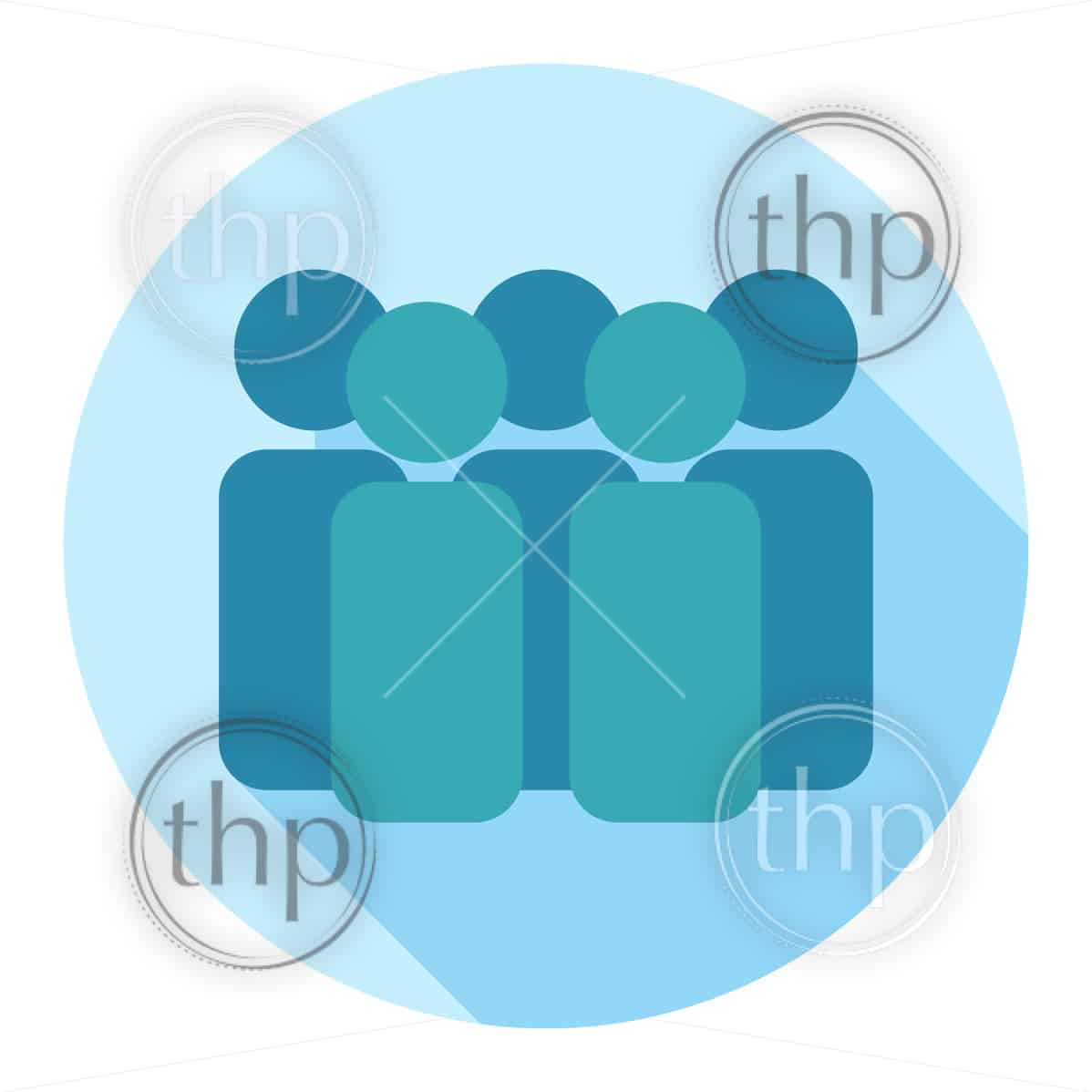 Team of people icon in flat design vector style