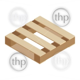Wooden pallet crate vector in isolated isometric vector style