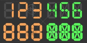Digital numbers vector with the ability to create any number
