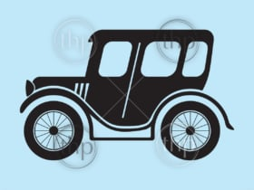 Classic vintage style car or automobile in vector