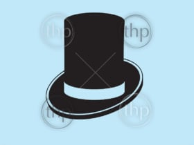 Classic elegant gentlemans top hat vector icon
