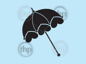 Classic vintage style ladies parasol or umbrella vector