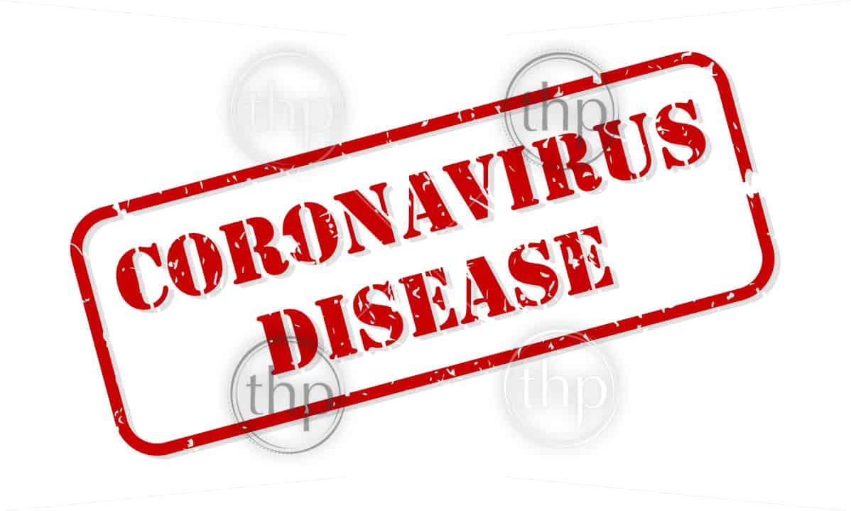 Coronavirus disease red rubber stamp vector isolated