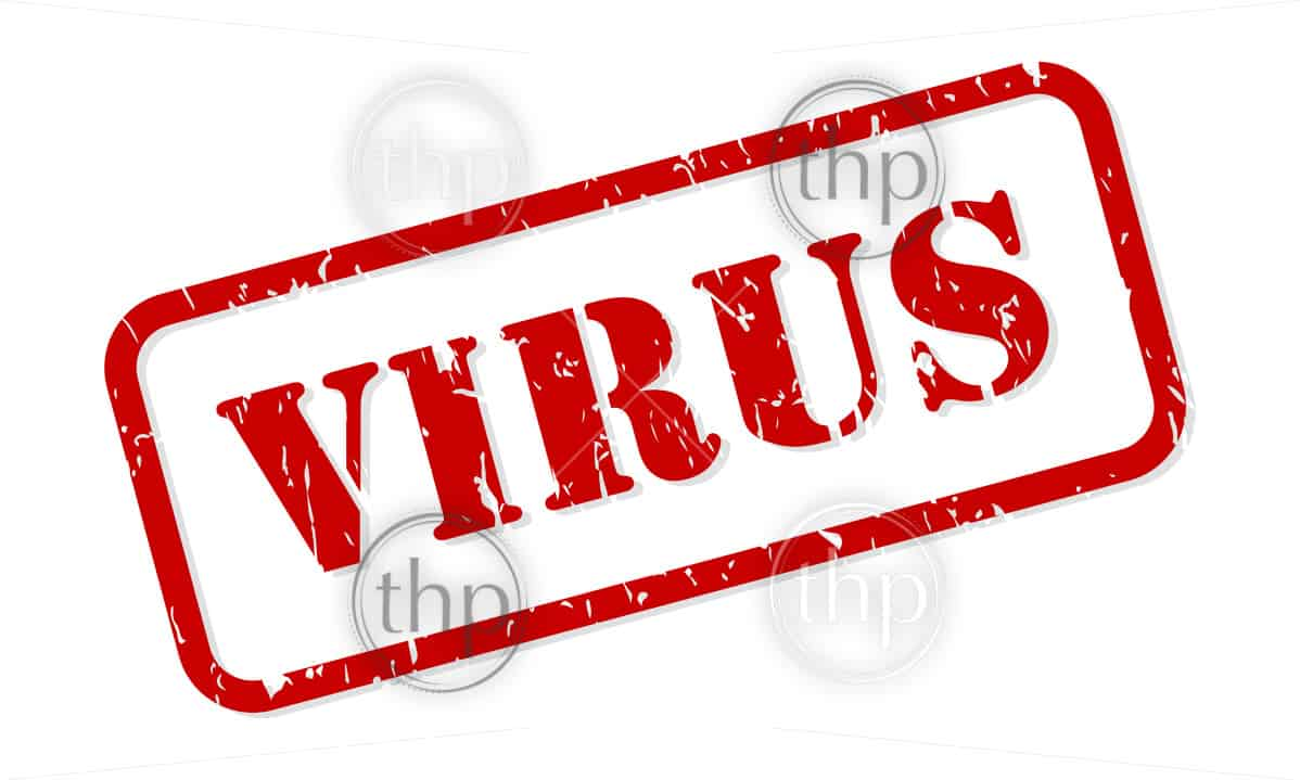 Virus red rubber stamp vector isolated